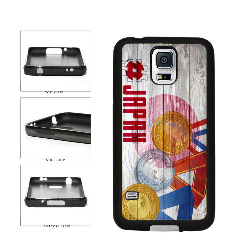 Sport Games Hashtag Team Japan #Japan TPU Rubber SILICONE Phone Case Back Cover For Samsung Galaxy S5 I9600 includes BleuReign(TM) Cloth and Warranty Label