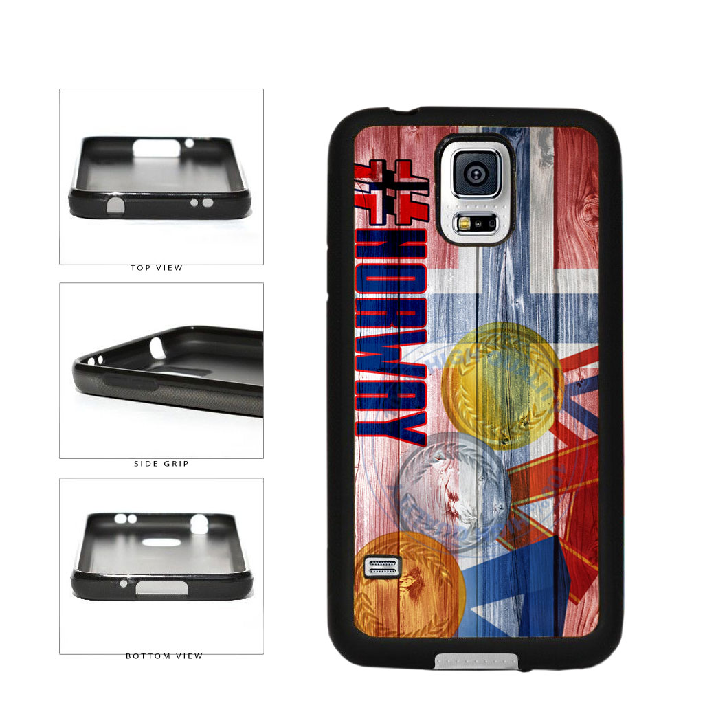 Sport Games Hashtag Team Norway #Norway TPU Rubber SILICONE Phone Case Back Cover For Samsung Galaxy S5 I9600 includes BleuReign(TM) Cloth and Warranty Label