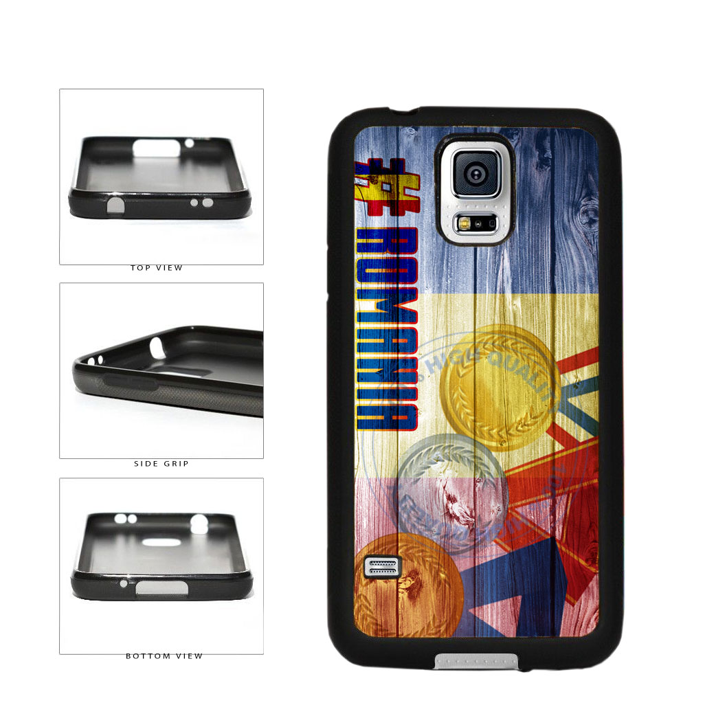 Sport Games Hashtag Team Romania #Romania TPU Rubber SILICONE Phone Case Back Cover For Samsung Galaxy S5 I9600 includes BleuReign(TM) Cloth and Warranty Label