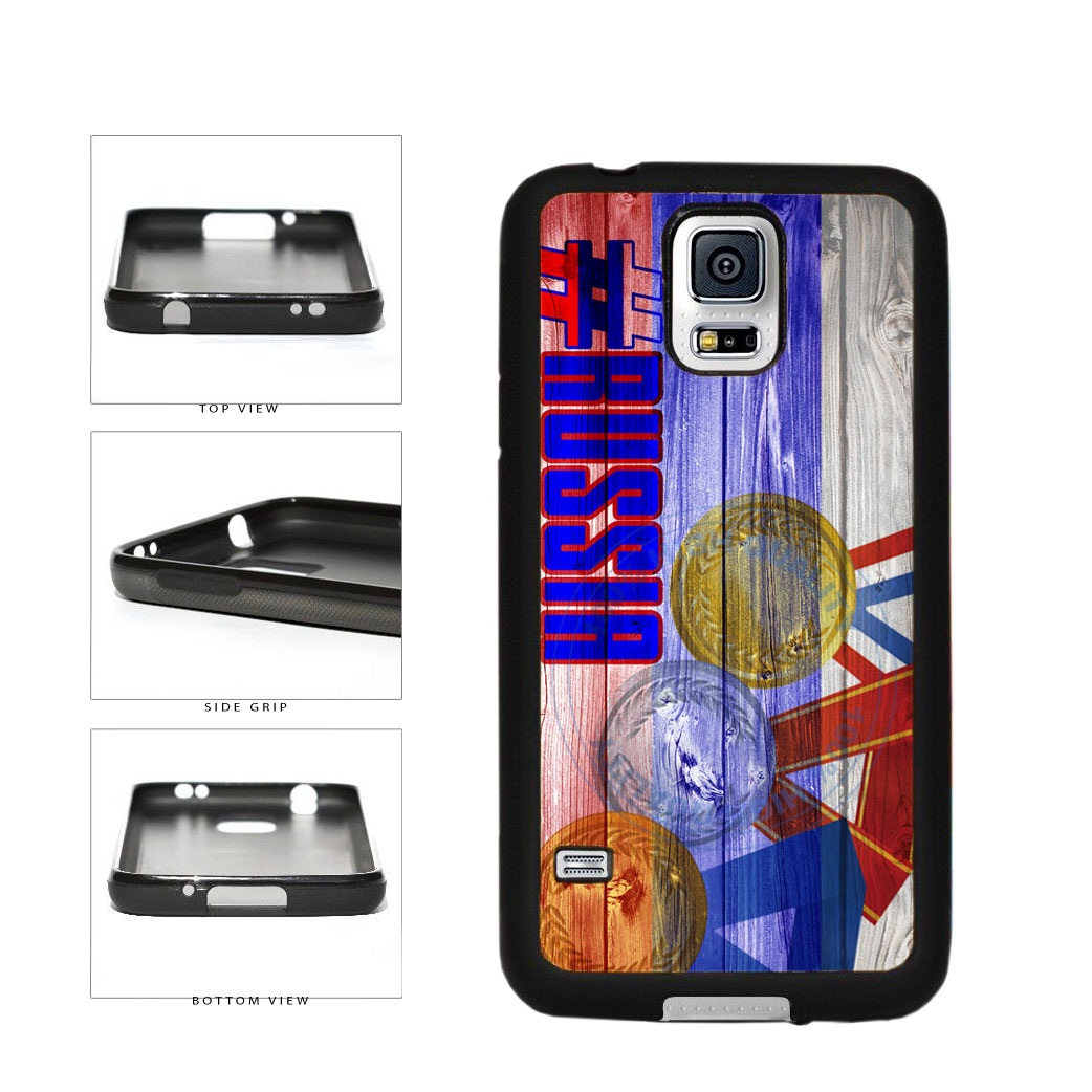 Sport Games Hashtag Team Russia #Russia TPU Rubber SILICONE Phone Case Back Cover For Samsung Galaxy S5 I9600 includes BleuReign(TM) Cloth and Warranty Label