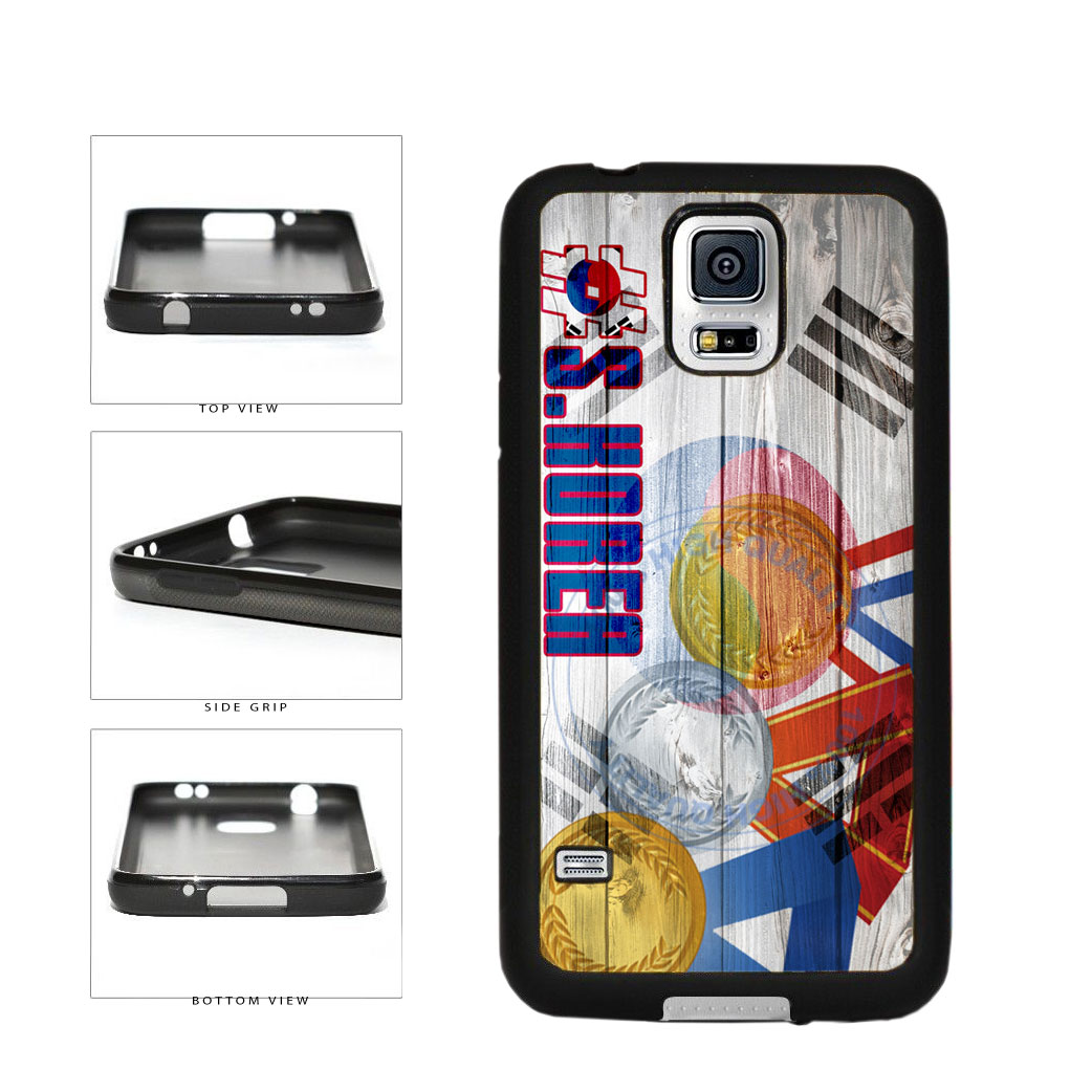 Sport Games Hashtag Team South Korea #SouthKorea TPU Rubber SILICONE Phone Case Back Cover For Samsung Galaxy S5 I9600 includes BleuReign(TM) Cloth and Warranty Label