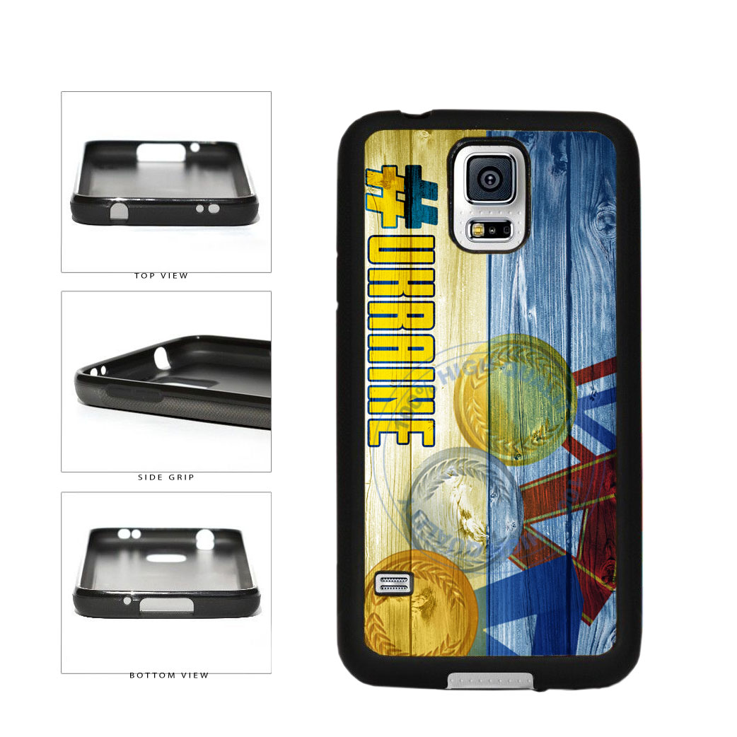 Sport Games Hashtag Team Ukraine #Ukraine TPU Rubber SILICONE Phone Case Back Cover For Samsung Galaxy S5 I9600 includes BleuReign(TM) Cloth and Warranty Label