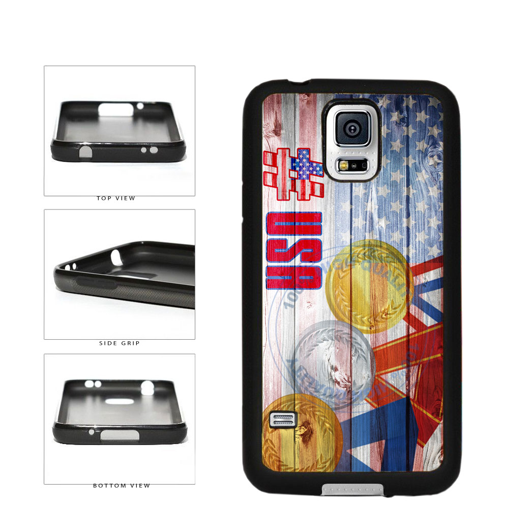 Sport Games Hashtag Team USA #USA TPU Rubber SILICONE Phone Case Back Cover For Samsung Galaxy S5 I9600 includes BleuReign(TM) Cloth and Warranty Label