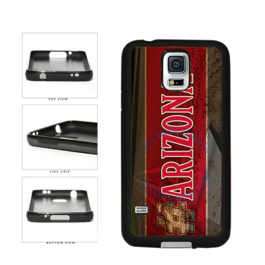 Hashtag Arizona #Arizona Baseball Team  TPU Rubber SILICONE Phone Case Back Cover For Samsung Galaxy S5 I9600 includes BleuReign(TM) Cloth and Warranty Label