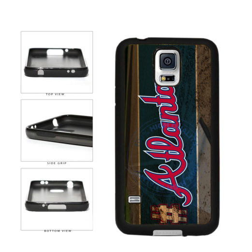 Hashtag Atlanta #Atlanta Baseball Team  TPU Rubber SILICONE Phone Case Back Cover For Samsung Galaxy S5 I9600 includes BleuReign(TM) Cloth and Warranty Label