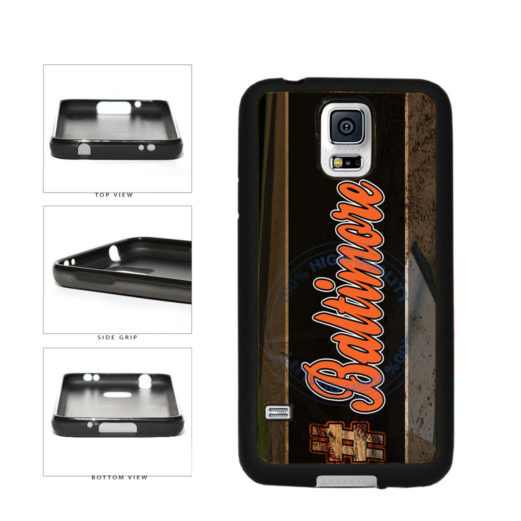 Hashtag Baltimore #Baltimore Baseball Team  TPU Rubber SILICONE Phone Case Back Cover For Samsung Galaxy S5 I9600 includes BleuReign(TM) Cloth and Warranty Label