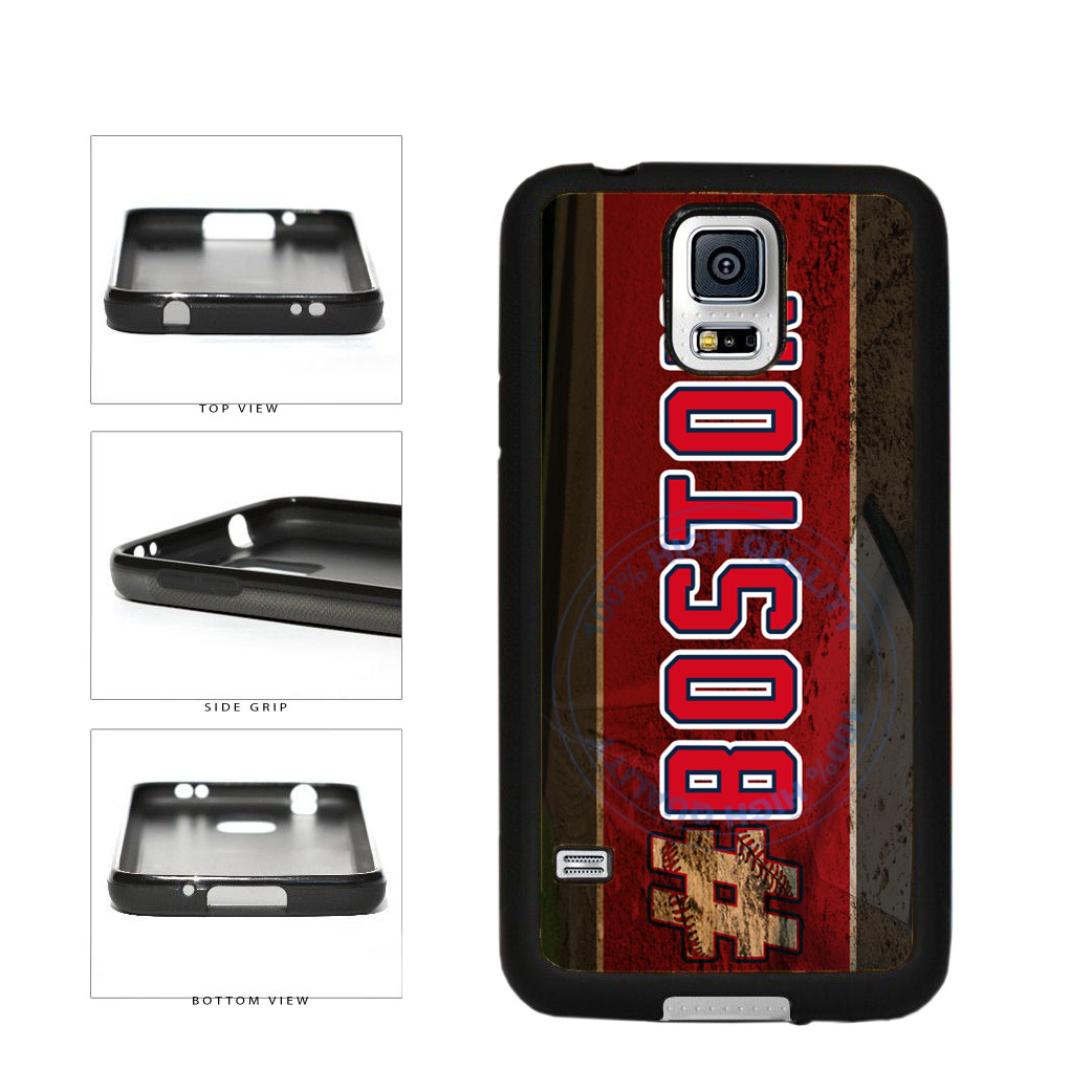 Hashtag Boston #Boston Baseball Team  TPU Rubber SILICONE Phone Case Back Cover For Samsung Galaxy S5 I9600 includes BleuReign(TM) Cloth and Warranty Label