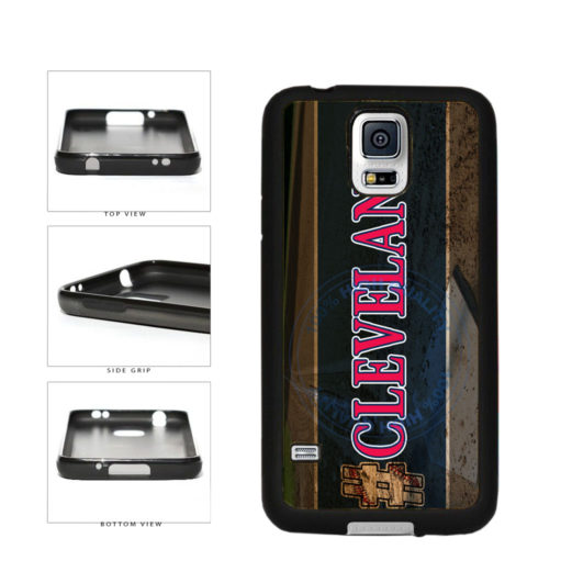 Hashtag Cleveland #Cleveland Baseball Team  TPU Rubber SILICONE Phone Case Back Cover For Samsung Galaxy S5 I9600 includes BleuReign(TM) Cloth and Warranty Label