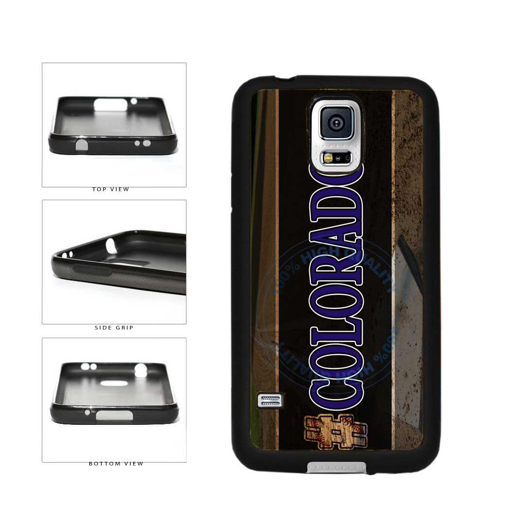 Hashtag Colorado #Colorado Baseball Team  TPU Rubber SILICONE Phone Case Back Cover For Samsung Galaxy S5 I9600 includes BleuReign(TM) Cloth and Warranty Label