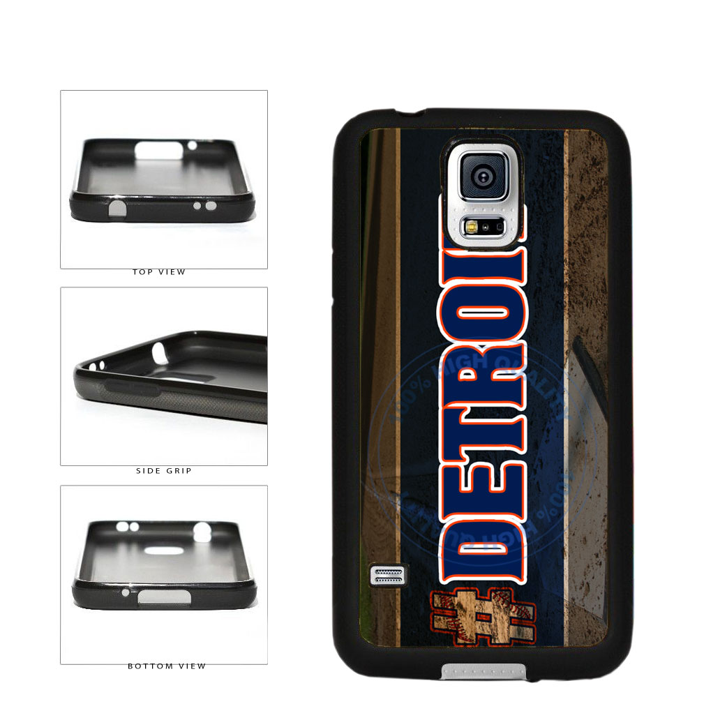 Hashtag Detroit #Detroit Baseball Team  TPU Rubber SILICONE Phone Case Back Cover For Samsung Galaxy S5 I9600 includes BleuReign(TM) Cloth and Warranty Label