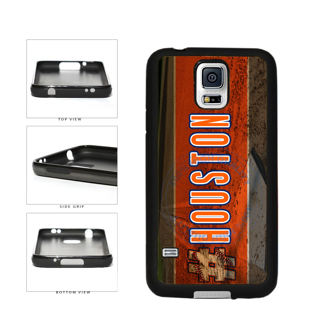 Hashtag Houston #Houston Baseball Team  TPU Rubber SILICONE Phone Case Back Cover For Samsung Galaxy S5 I9600 includes BleuReign(TM) Cloth and Warranty Label