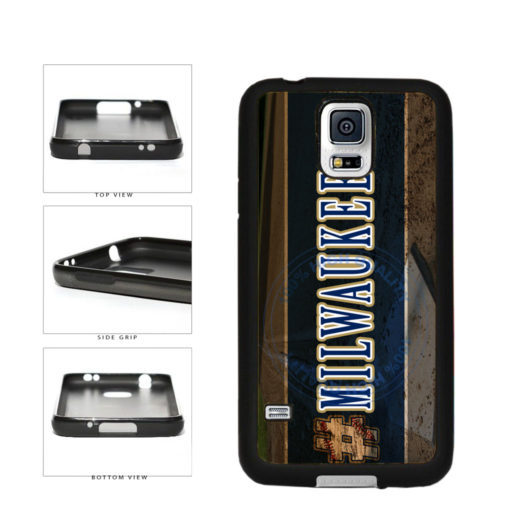 Hashtag Milwaukee #Milwaukee Baseball Team  TPU Rubber SILICONE Phone Case Back Cover For Samsung Galaxy S5 I9600 includes BleuReign(TM) Cloth and Warranty Label