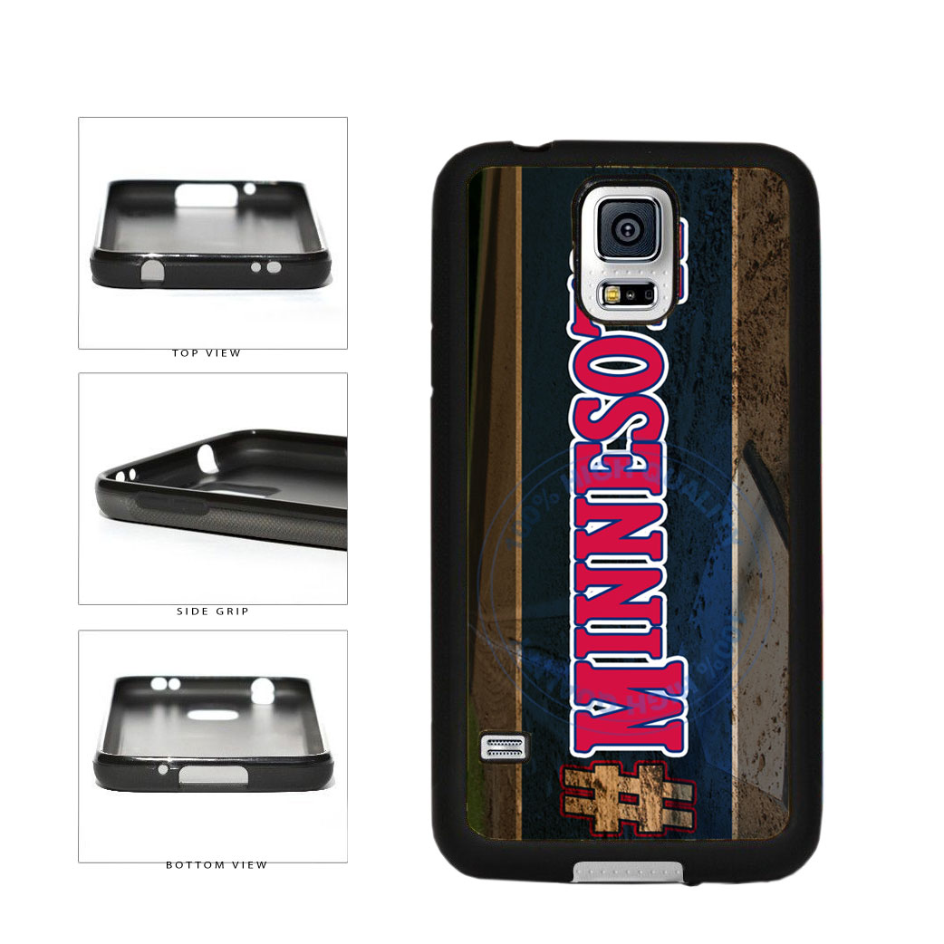 Hashtag Minnesota #Minnesota Baseball Team  TPU Rubber SILICONE Phone Case Back Cover For Samsung Galaxy S5 I9600 includes BleuReign(TM) Cloth and Warranty Label