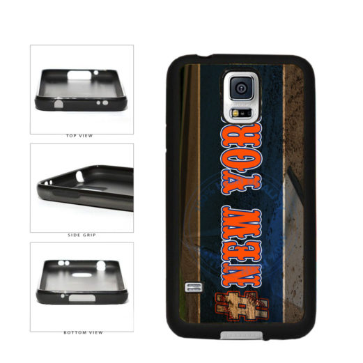 Hashtag New York #NewYork Orange Baseball Team  TPU Rubber SILICONE Phone Case Back Cover For Samsung Galaxy S5 I9600 includes BleuReign(TM) Cloth and Warranty Label