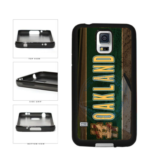 Hashtag Oakland #Oakland Baseball Team  TPU Rubber SILICONE Phone Case Back Cover For Samsung Galaxy S5 I9600 includes BleuReign(TM) Cloth and Warranty Label