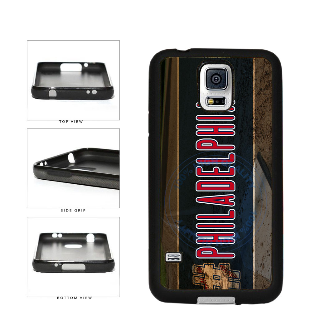 Hashtag Philadelphia #Philadelphia Baseball Team  TPU Rubber SILICONE Phone Case Back Cover For Samsung Galaxy S5 I9600 includes BleuReign(TM) Cloth and Warranty Label