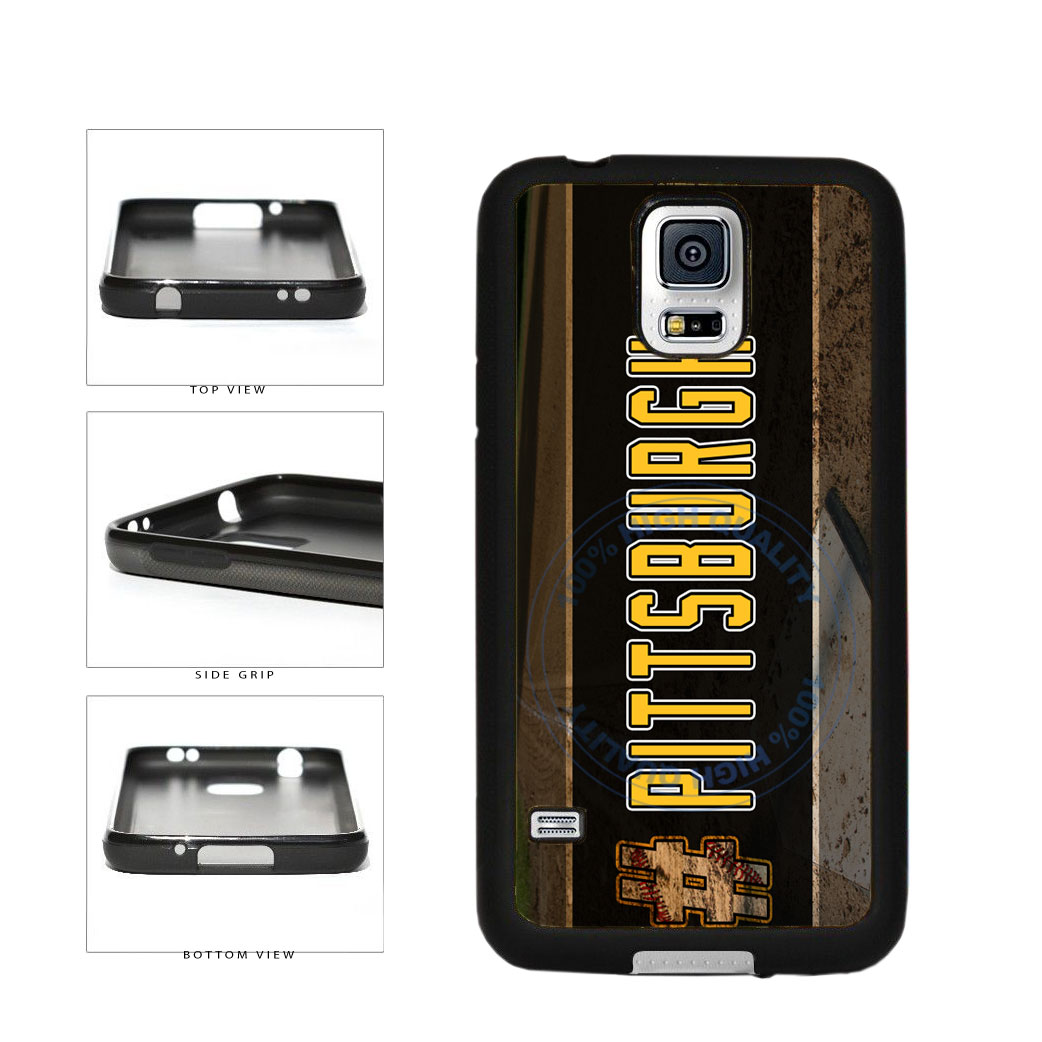 Hashtag Pittsburgh #Pittsburgh Baseball Team  TPU Rubber SILICONE Phone Case Back Cover For Samsung Galaxy S5 I9600 includes BleuReign(TM) Cloth and Warranty Label