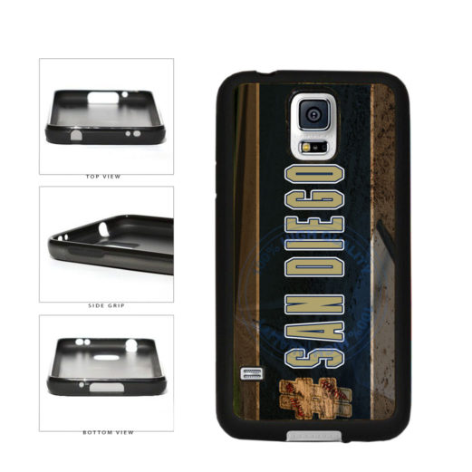 Hashtag San Diego #SanDiego Baseball Team  TPU Rubber SILICONE Phone Case Back Cover For Samsung Galaxy S5 I9600 includes BleuReign(TM) Cloth and Warranty Label