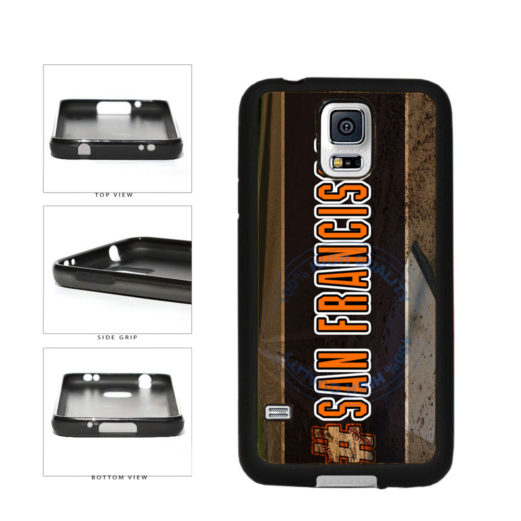 Hashtag San Francisco #SanFrancisco Baseball Team  TPU Rubber SILICONE Phone Case Back Cover For Samsung Galaxy S5 I9600 includes BleuReign(TM) Cloth and Warranty Label