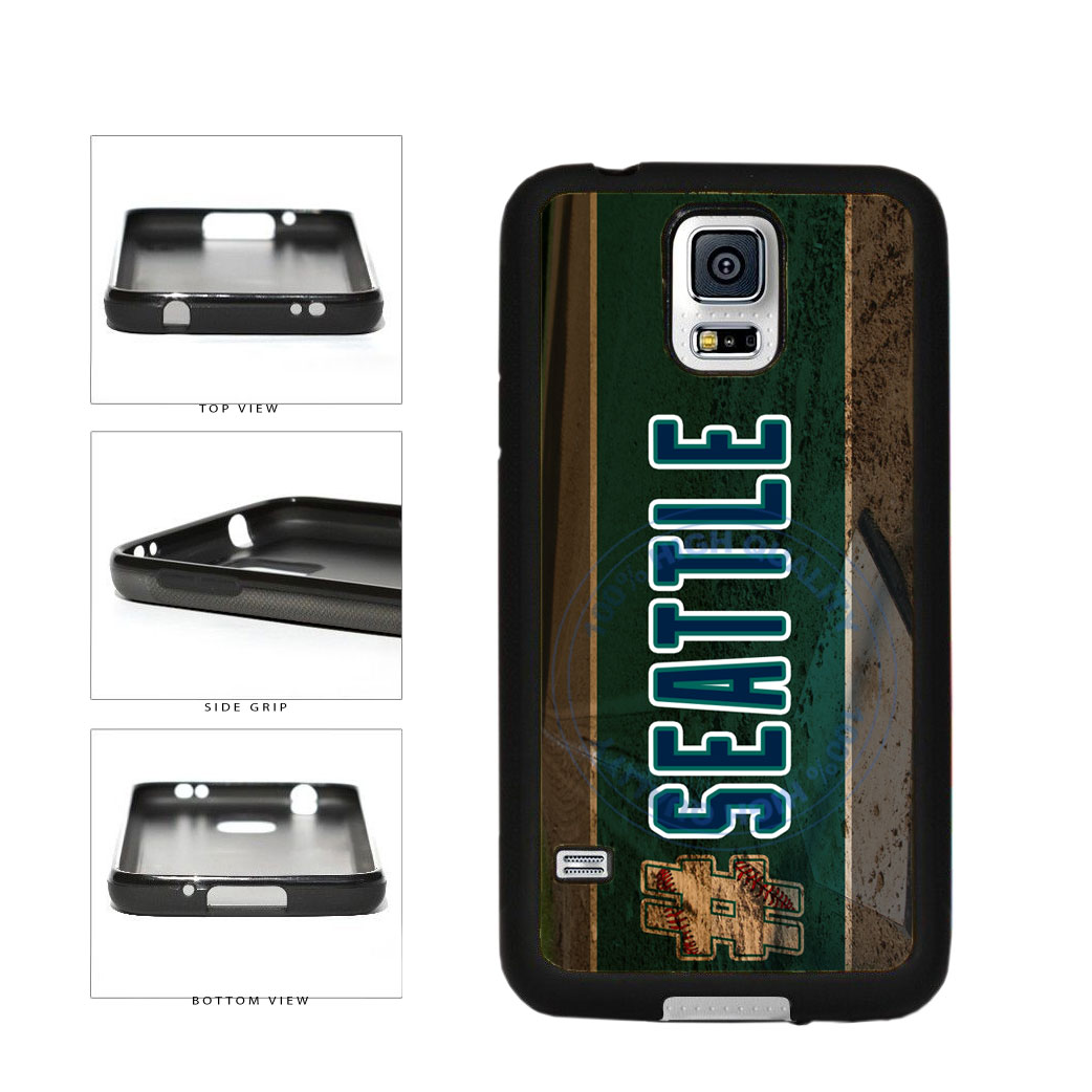 Hashtag Seattle #Seattle Baseball Team  TPU Rubber SILICONE Phone Case Back Cover For Samsung Galaxy S5 I9600 includes BleuReign(TM) Cloth and Warranty Label