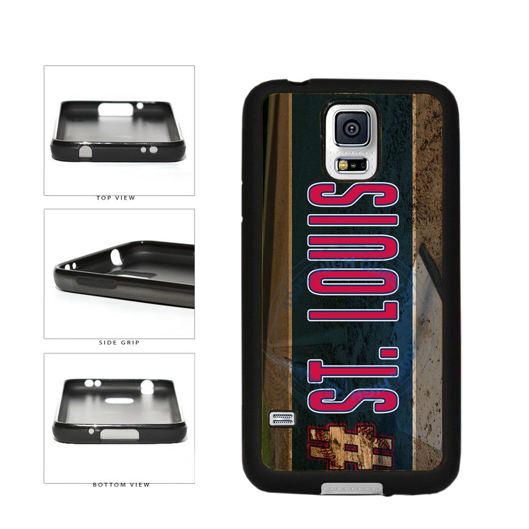 Hashtag St Louis #StLouis Baseball Team TPU Rubber SILICONE Phone Case Back Cover For Samsung Galaxy S5 I9600 includes BleuReign(TM) Cloth and Warranty Label