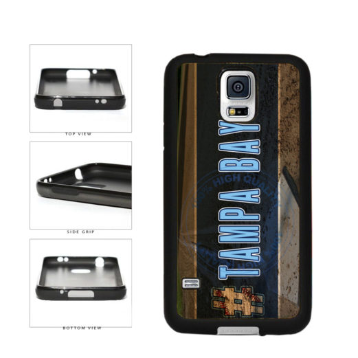 Hashtag Tampa Bay #TampaBay Baseball Team  TPU Rubber SILICONE Phone Case Back Cover For Samsung Galaxy S5 I9600 includes BleuReign(TM) Cloth and Warranty Label