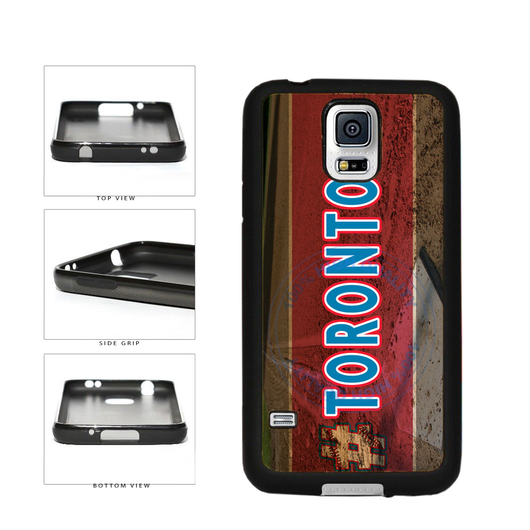 Hashtag Toronto #Toronot Baseball Team  TPU Rubber SILICONE Phone Case Back Cover For Samsung Galaxy S5 I9600 includes BleuReign(TM) Cloth and Warranty Label