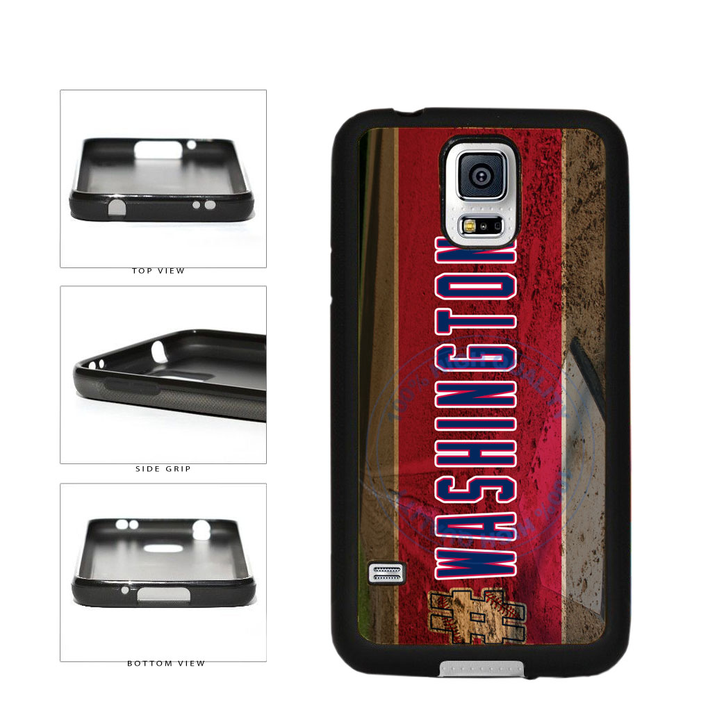 Hashtag Washington #Washington Baseball Team  TPU Rubber SILICONE Phone Case Back Cover For Samsung Galaxy S5 I9600 includes BleuReign(TM) Cloth and Warranty Label