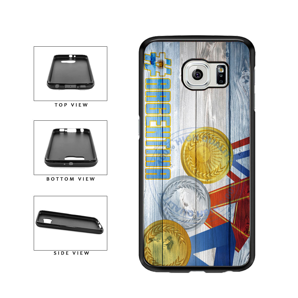 Sport Games Hashtag Team Argentina #Argentina TPU Rubber SILICONE Phone Case Back Cover For Samsung Galaxy S6 G920 includes BleuReign(TM) Cloth and Warranty Label