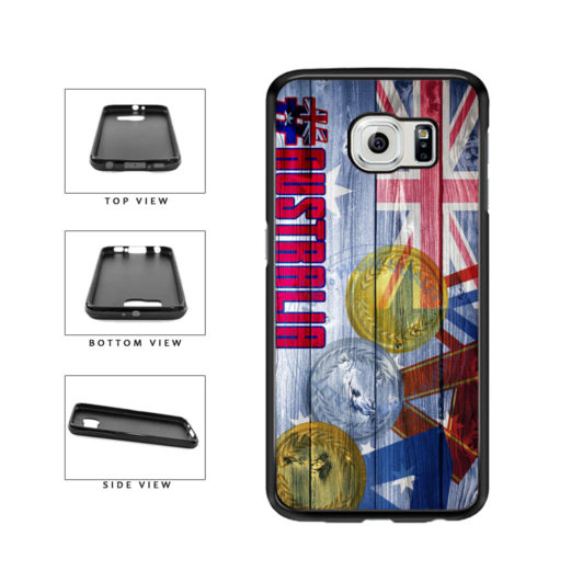 Sport Games Hashtag Team Australia #Australia TPU Rubber SILICONE Phone Case Back Cover For Samsung Galaxy S6 G920 includes BleuReign(TM) Cloth and Warranty Label
