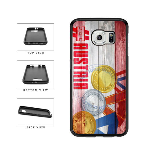 Sport Games Hashtag Team Austria #Austria TPU Rubber SILICONE Phone Case Back Cover For Samsung Galaxy S6 G920 includes BleuReign(TM) Cloth and Warranty Label