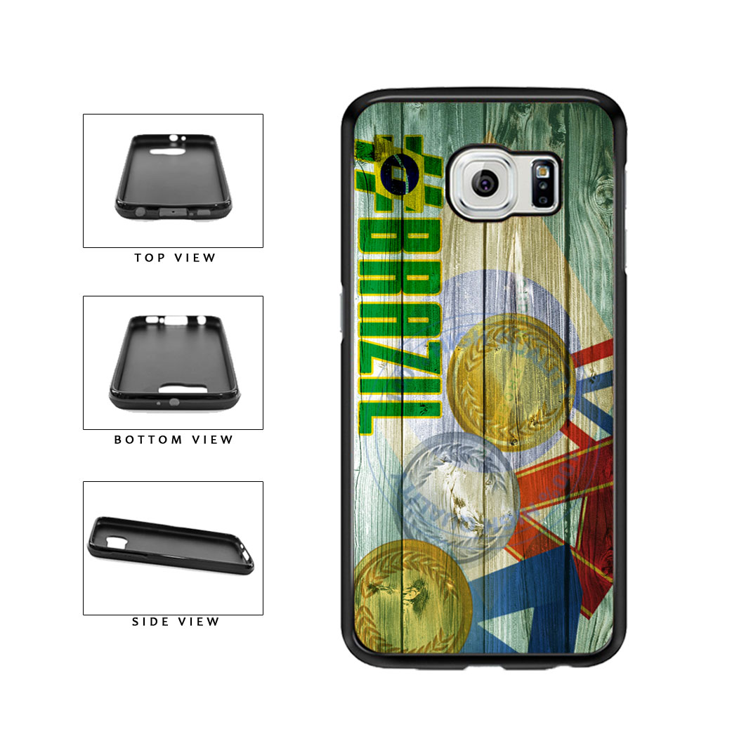 Sport Games Hashtag Team Brazil #Brazil TPU Rubber SILICONE Phone Case Back Cover For Samsung Galaxy S6 G920 includes BleuReign(TM) Cloth and Warranty Label