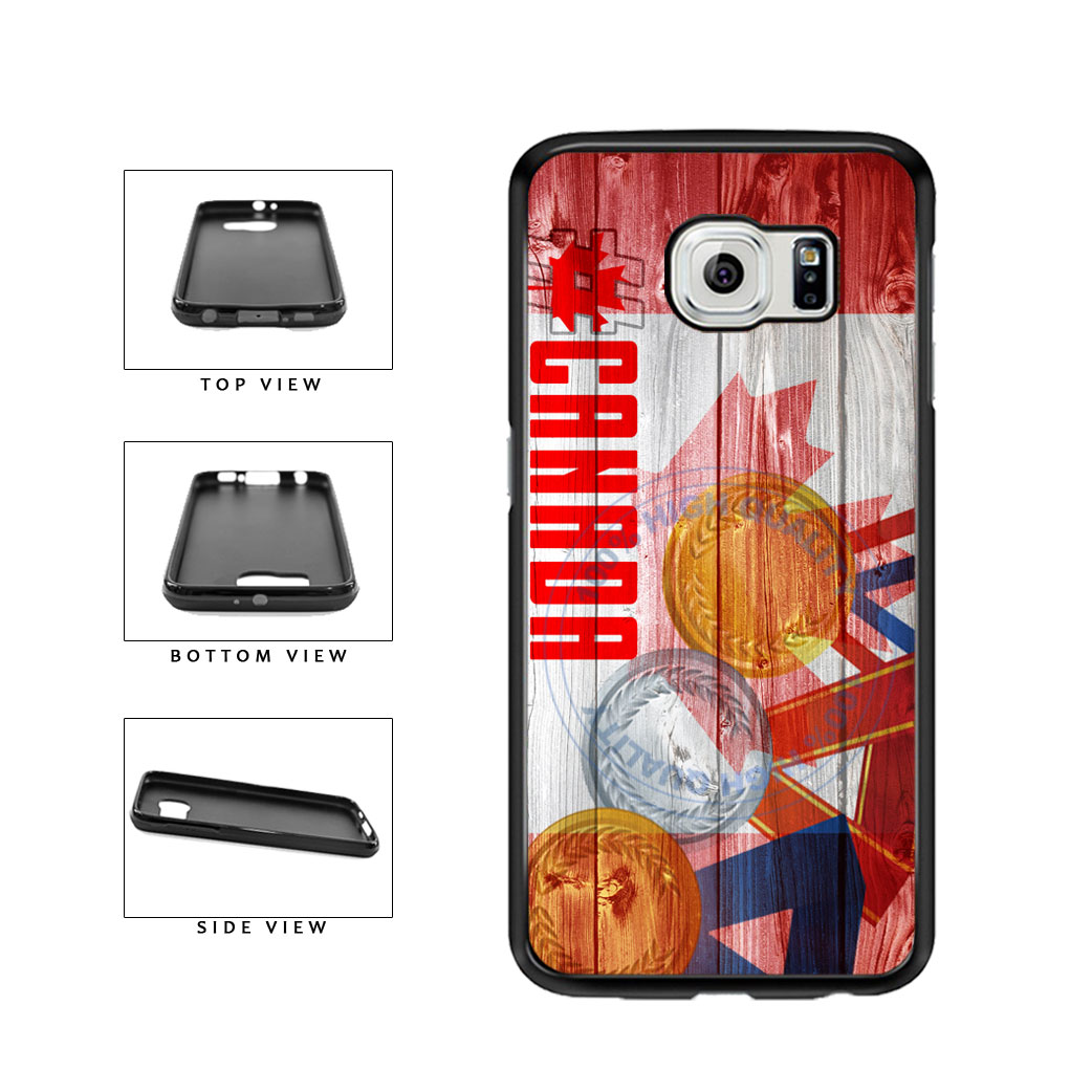 Sport Games Hashtag Team Canada #Canada TPU Rubber SILICONE Phone Case Back Cover For Samsung Galaxy S6 G920 includes BleuReign(TM) Cloth and Warranty Label