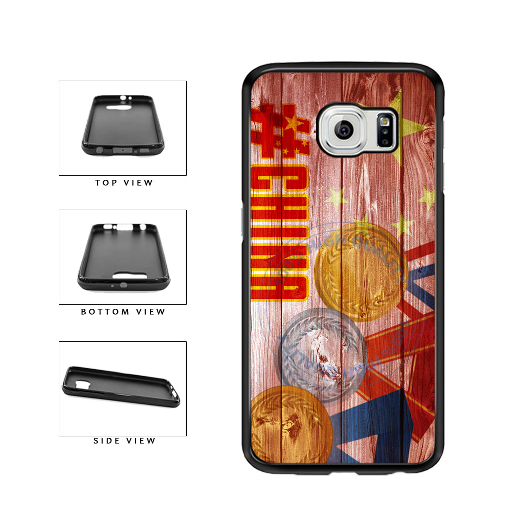 Sport Games Hashtag Team China #China TPU Rubber SILICONE Phone Case Back Cover For Samsung Galaxy S6 G920 includes BleuReign(TM) Cloth and Warranty Label