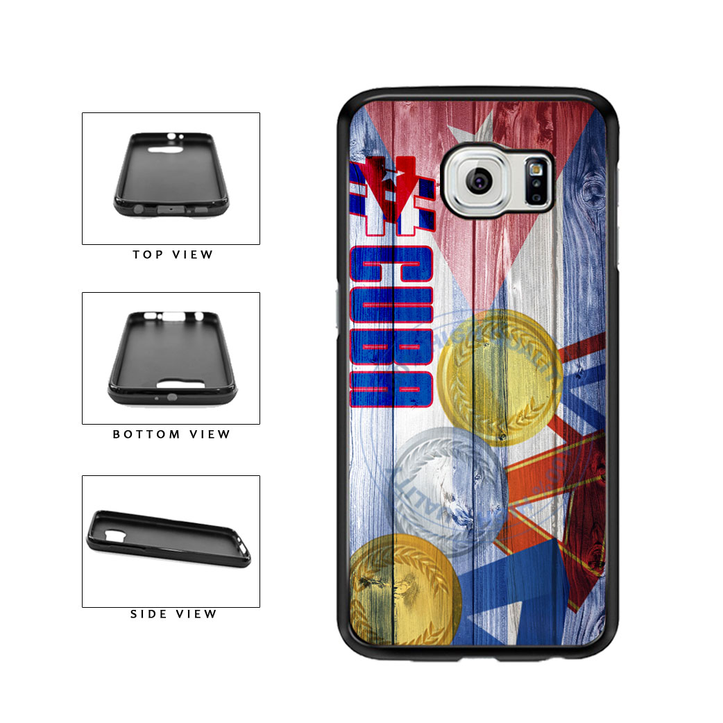 Sport Games Hashtag Team Cuba #Cuba TPU Rubber SILICONE Phone Case Back Cover For Samsung Galaxy S6 G920 includes BleuReign(TM) Cloth and Warranty Label