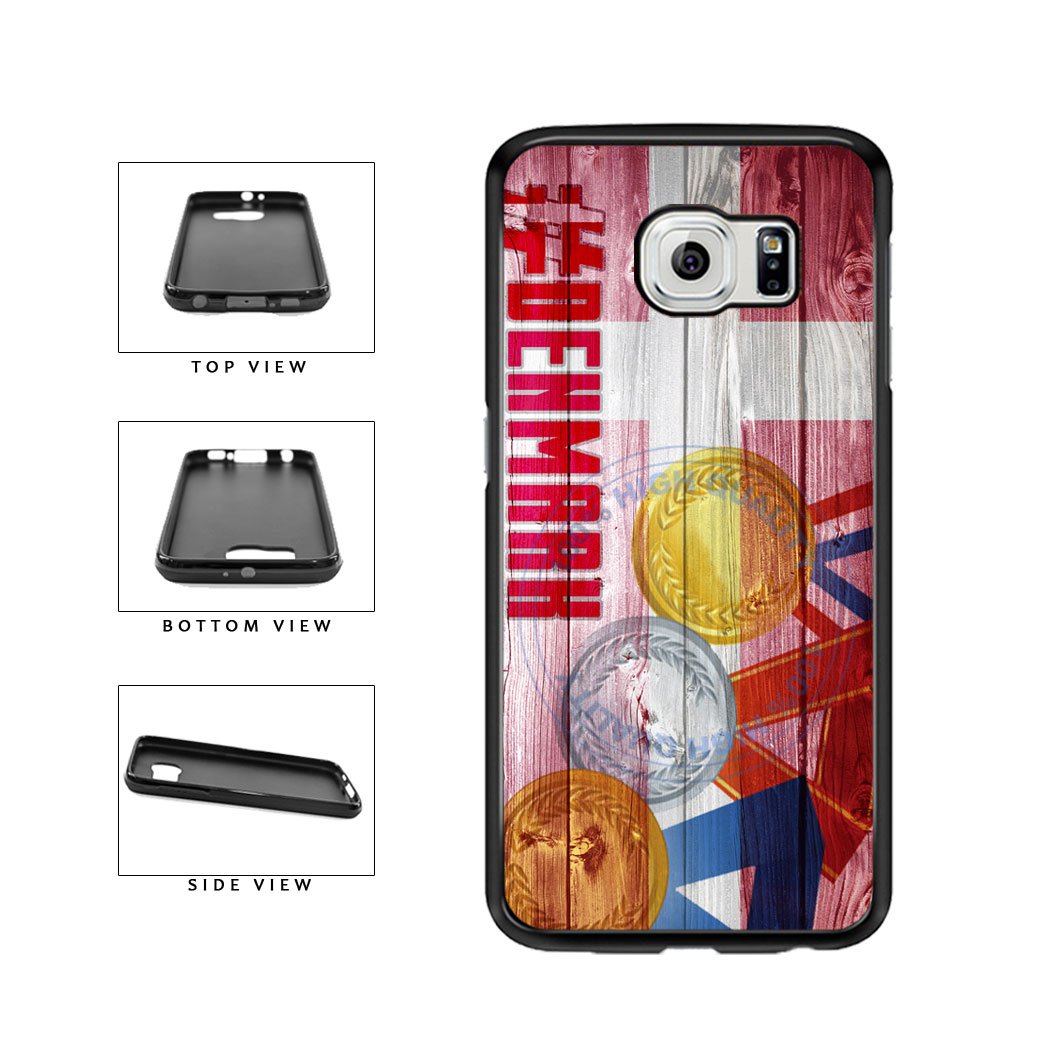Sport Games Hashtag Team Denmark #Denmark TPU Rubber SILICONE Phone Case Back Cover For Samsung Galaxy S6 G920 includes BleuReign(TM) Cloth and Warranty Label