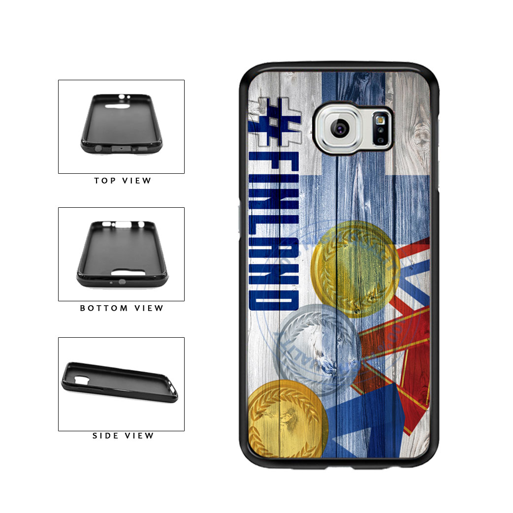 Sport Games Hashtag Team Finland #Finland TPU Rubber SILICONE Phone Case Back Cover For Samsung Galaxy S6 G920 includes BleuReign(TM) Cloth and Warranty Label