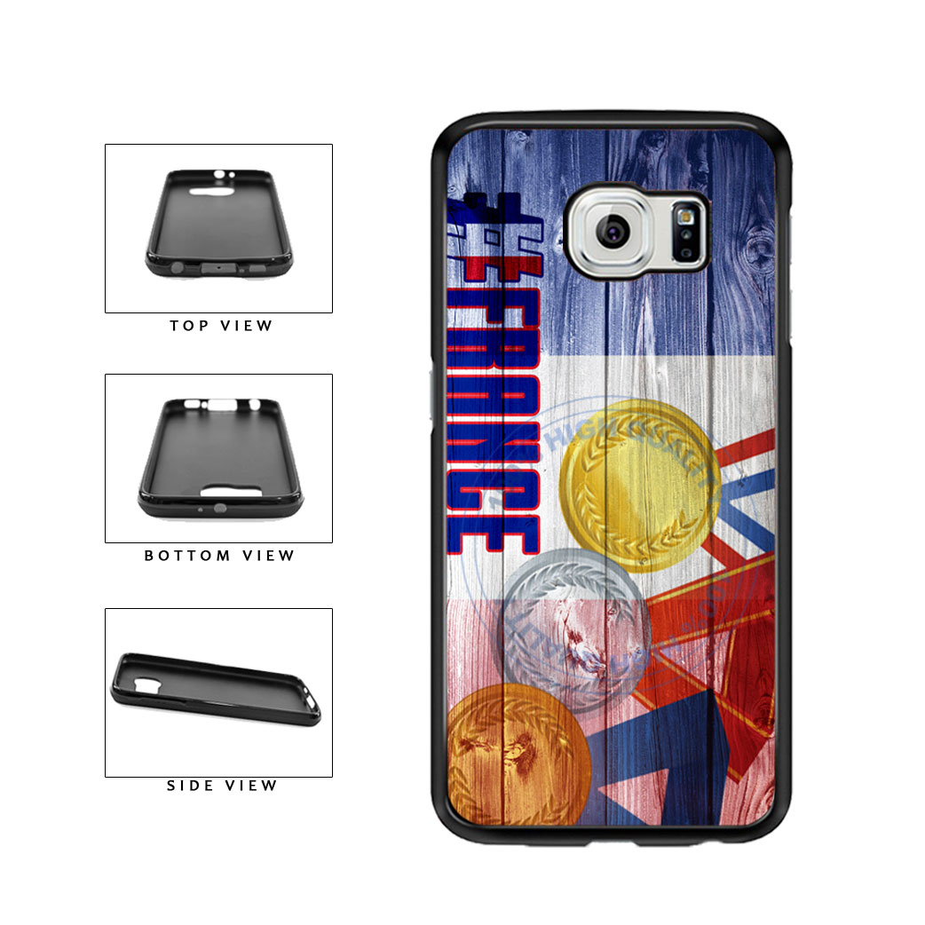 Sport Games Hashtag Team France #France TPU Rubber SILICONE Phone Case Back Cover For Samsung Galaxy S6 G920 includes BleuReign(TM) Cloth and Warranty Label