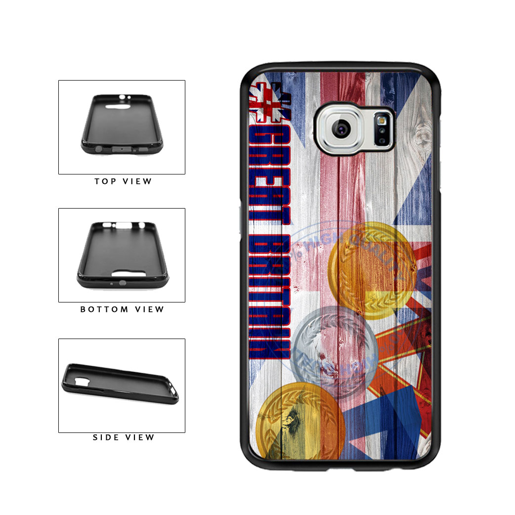 Sport Games Hashtag Team Great Britain #GreatBritain TPU Rubber SILICONE Phone Case Back Cover For Samsung Galaxy S6 G920 includes BleuReign(TM) Cloth and Warranty Label