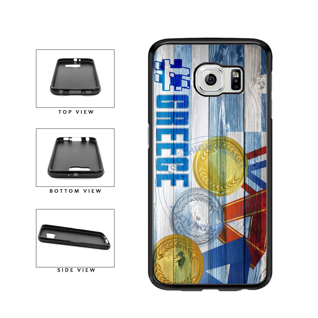 Sport Games Hashtag Team Greece #Greece TPU Rubber SILICONE Phone Case Back Cover For Samsung Galaxy S6 G920 includes BleuReign(TM) Cloth and Warranty Label