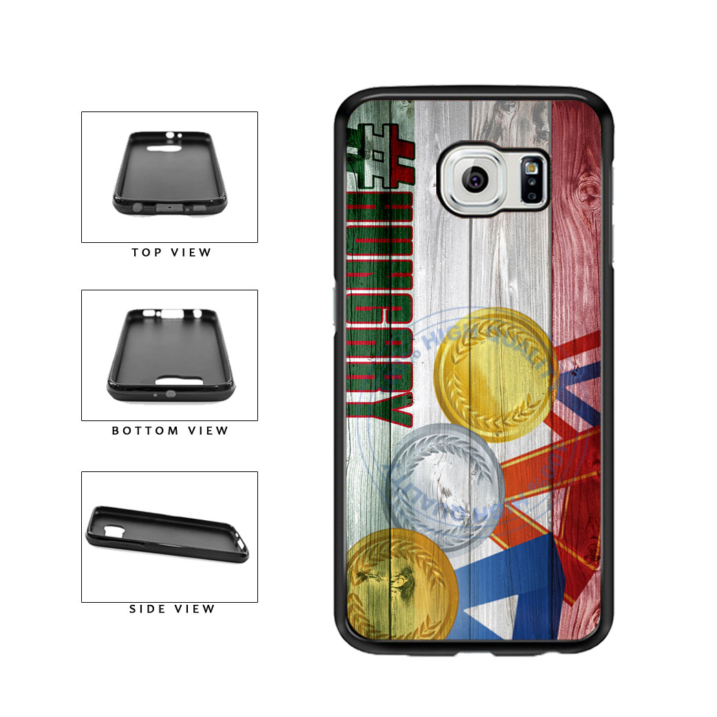 Sport Games Hashtag Team Hungary #Hungary TPU Rubber SILICONE Phone Case Back Cover For Samsung Galaxy S6 G920 includes BleuReign(TM) Cloth and Warranty Label