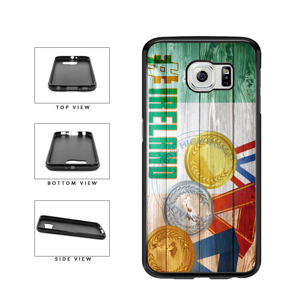 Sport Games Hashtag Team Ireland #Ireland TPU Rubber SILICONE Phone Case Back Cover For Samsung Galaxy S6 G920 includes BleuReign(TM) Cloth and Warranty Label