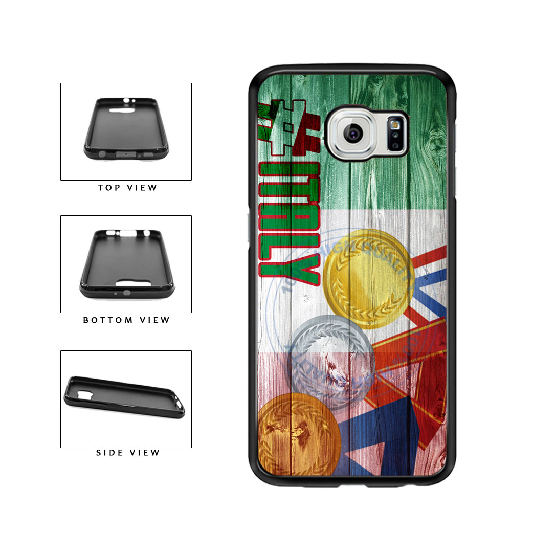 Sport Games Hashtag Team Italy #Italy TPU Rubber SILICONE Phone Case Back Cover For Samsung Galaxy S6 G920 includes BleuReign(TM) Cloth and Warranty Label