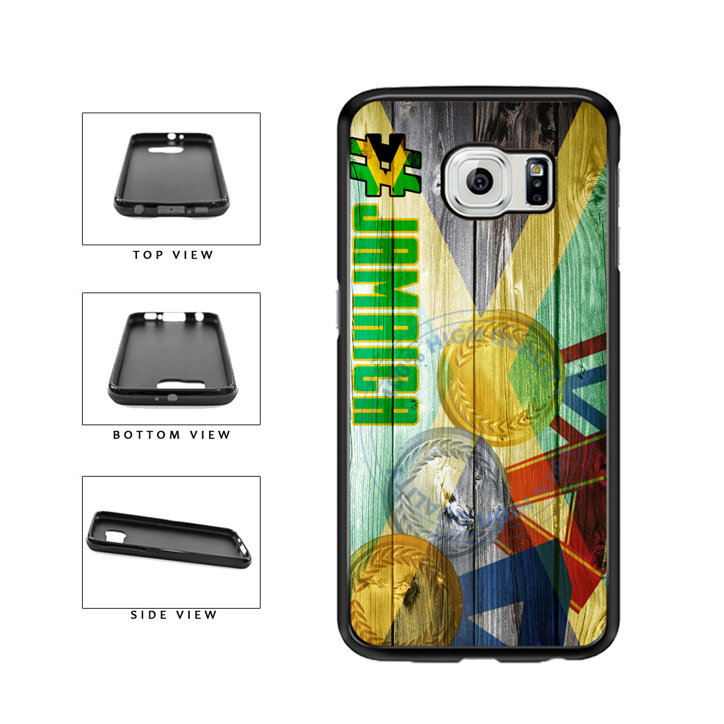 Sport Games Hashtag Team Jamaica #Jamacia TPU Rubber SILICONE Phone Case Back Cover For Samsung Galaxy S6 G920 includes BleuReign(TM) Cloth and Warranty Label