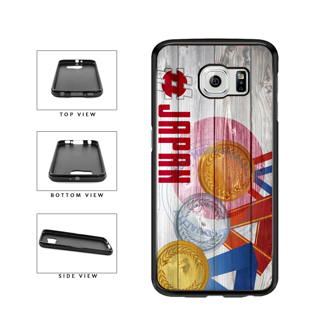 Sport Games Hashtag Team Japan #Japan TPU Rubber SILICONE Phone Case Back Cover For Samsung Galaxy S6 G920 includes BleuReign(TM) Cloth and Warranty Label