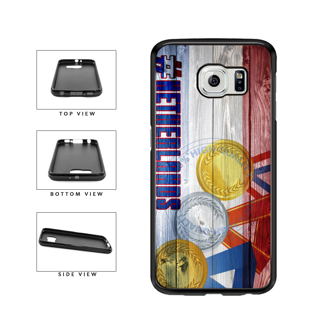Sport Games Hashtag Team Netherlands #Netherlands TPU Rubber SILICONE Phone Case Back Cover For Samsung Galaxy S6 G920 includes BleuReign(TM) Cloth and Warranty Label