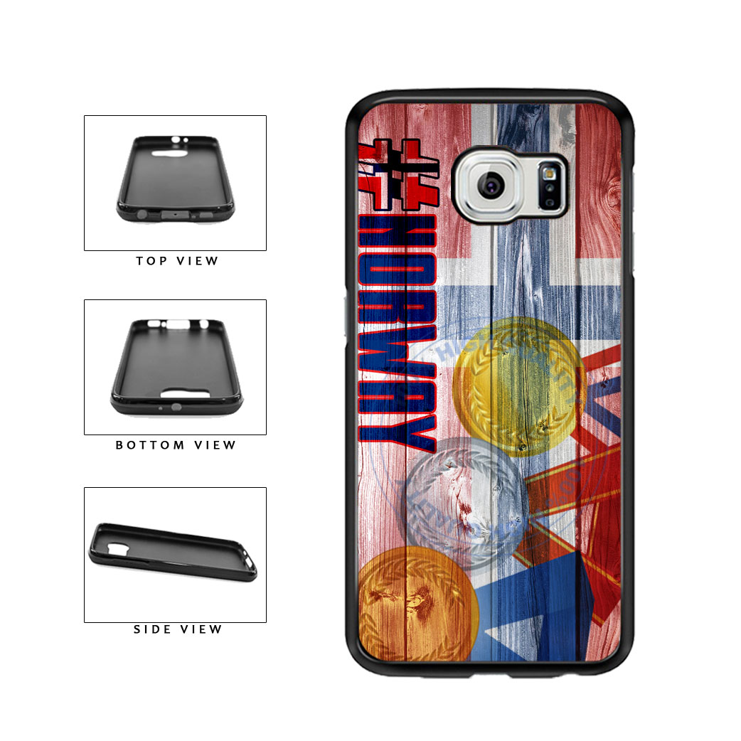 Sport Games Hashtag Team Norway #Norway TPU Rubber SILICONE Phone Case Back Cover For Samsung Galaxy S6 G920 includes BleuReign(TM) Cloth and Warranty Label