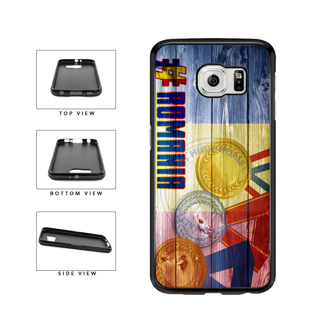 Sport Games Hashtag Team Romania #Romania TPU Rubber SILICONE Phone Case Back Cover For Samsung Galaxy S6 G920 includes BleuReign(TM) Cloth and Warranty Label