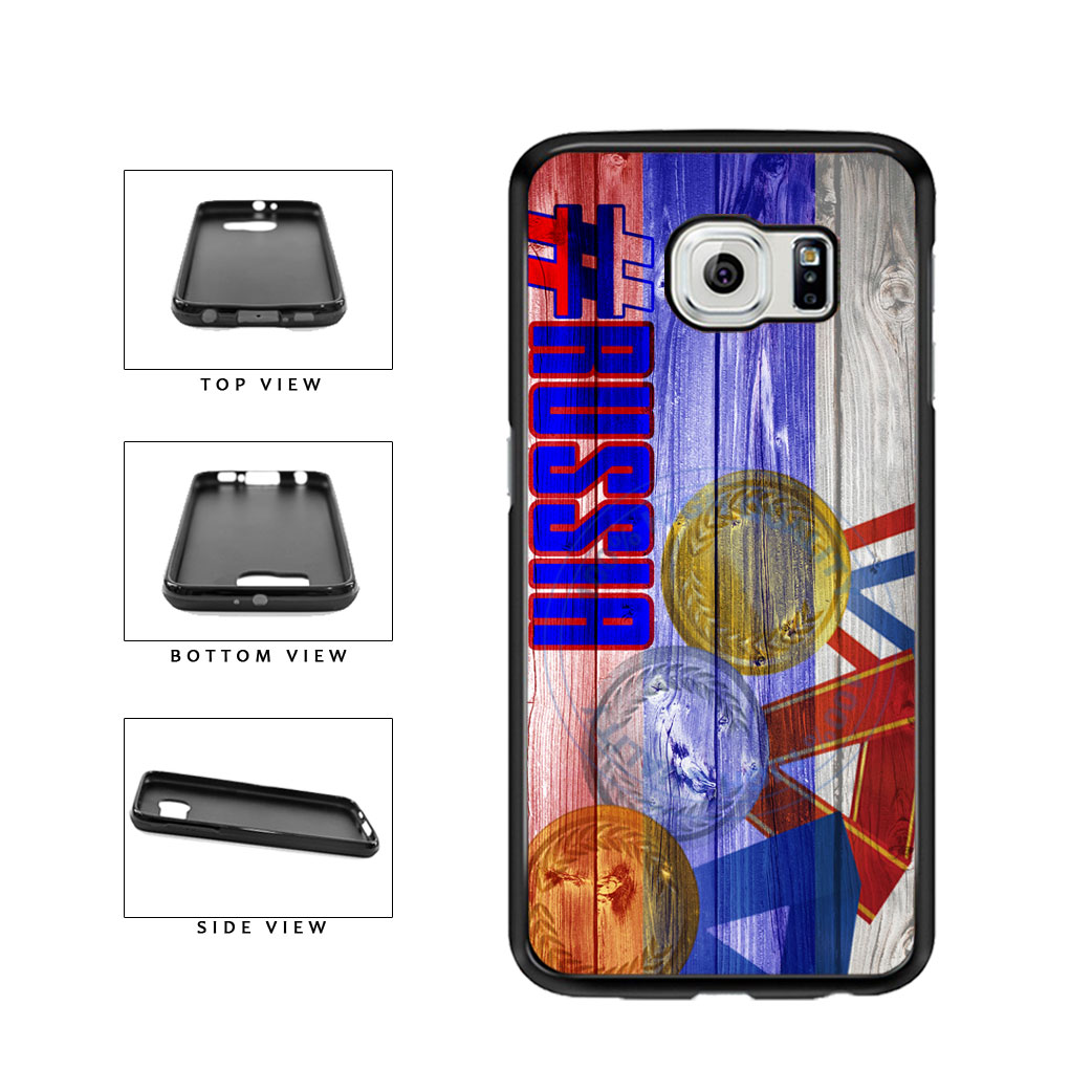 Sport Games Hashtag Team Russia #Russia TPU Rubber SILICONE Phone Case Back Cover For Samsung Galaxy S6 G920 includes BleuReign(TM) Cloth and Warranty Label