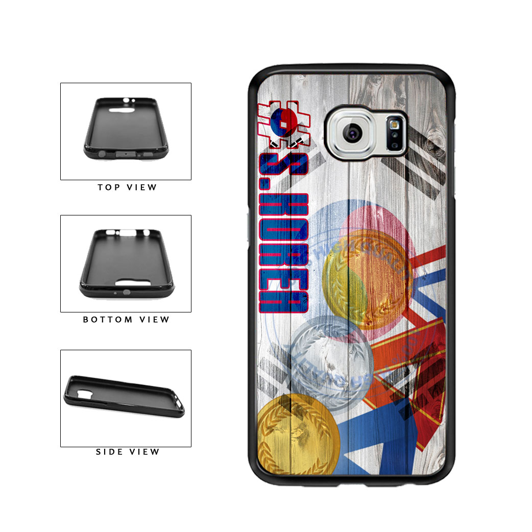 Sport Games Hashtag Team South Korea #SouthKorea TPU Rubber SILICONE Phone Case Back Cover For Samsung Galaxy S6 G920 includes BleuReign(TM) Cloth and Warranty Label